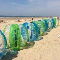 Beach Bubbleballs op een rij