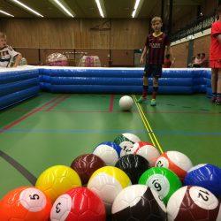 Biljartvoetbal Kinderfeestje
