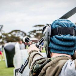 een wedstrijdje Archery-Tag