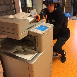 Lasergamen op kantoor