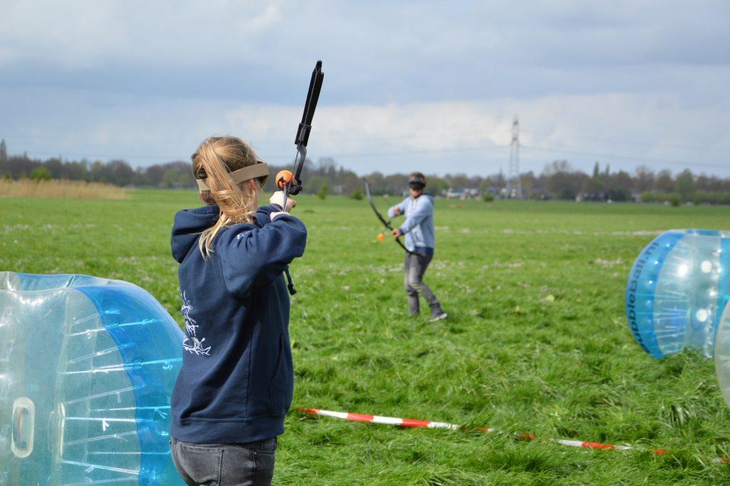 Archery Tag Huren overal op locatie groepsuitje